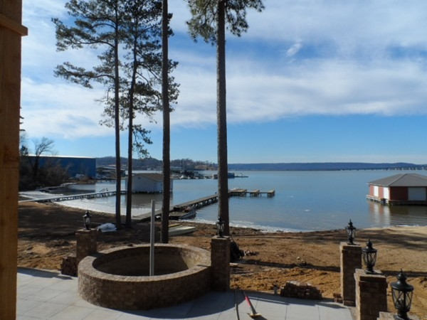 View of Lake Guntersville from home under construction