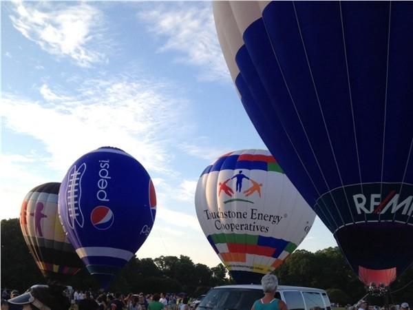 Hot Air Balloon Festival at Point Mallard Park in Decatur, Alabama