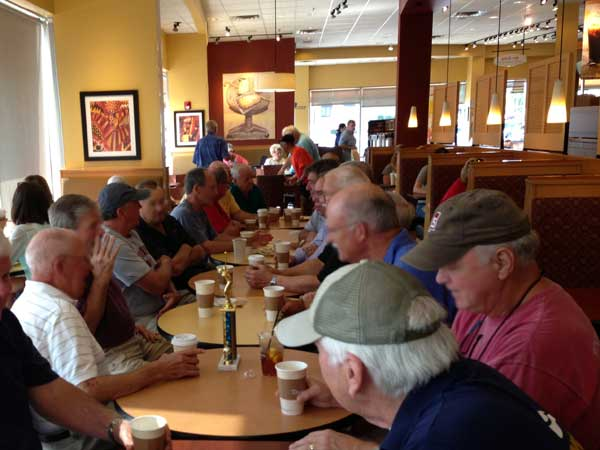 Great meeting this am with the Highland Lakes mens club @ Panera Bread, lots of football talk!!
