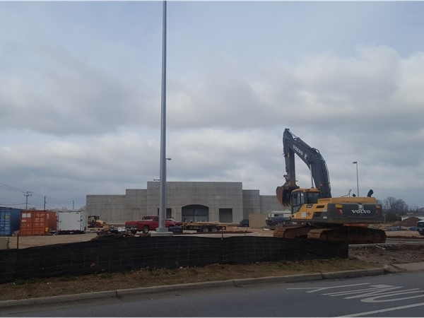Progress on the future home of Academy Sports on the corner of Memorial Pkwy and Drake Ave