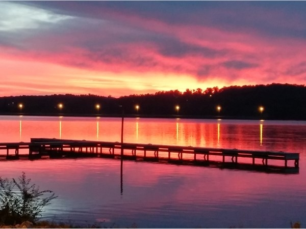 Another stunning sunset on Lake Guntersville a few nights ago at The Point