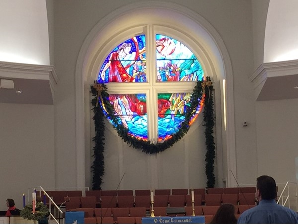Asbury United Methodist Church at Christmas