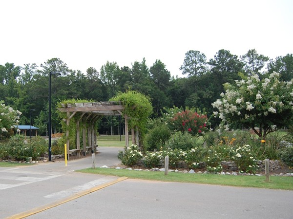 Beautiful walking trail entrance at Veterans Park in Alabaster
