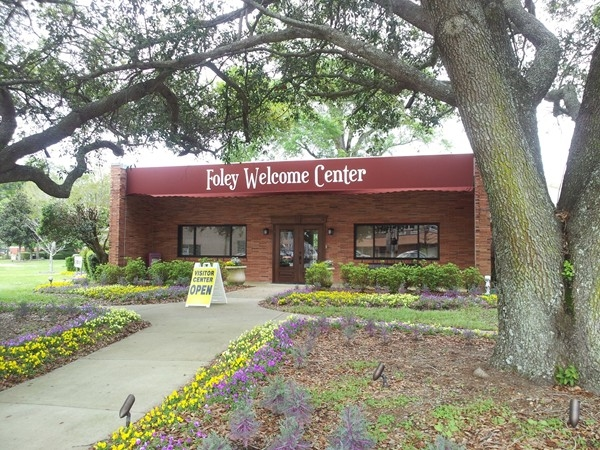Welcome Center in downtown Foley