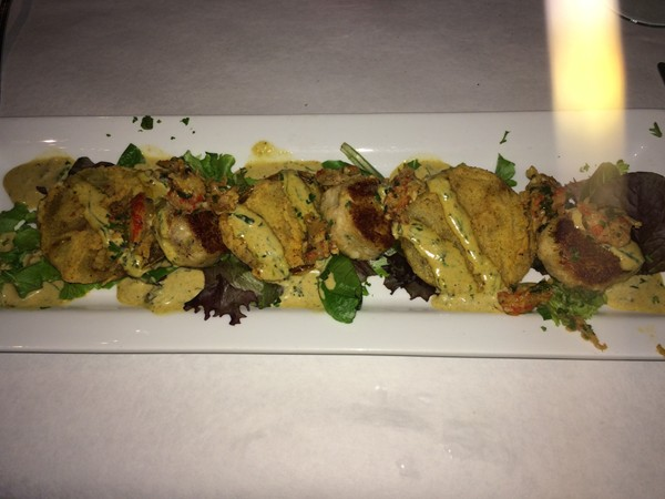Crab Cakes and Fried Green Tomatoes at Ginny Lane!
