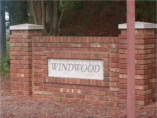 Windwood...located on Caldwell Mill Road