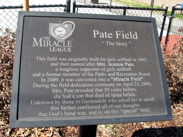 Pate Field -- Home of Gardendale's Miracle League