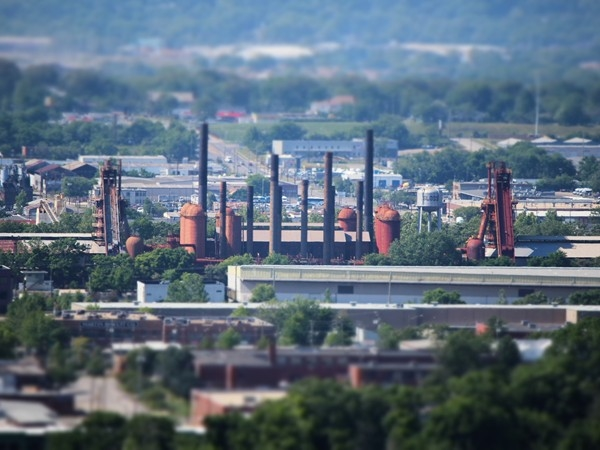 Sloss Furnaces from Red Mountain