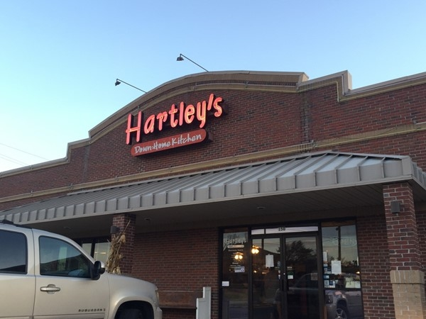 Drive up to Hartley's and sit down to home cooking