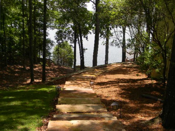 Stone pathways replace the yellow brick road in Hunt Farms!
