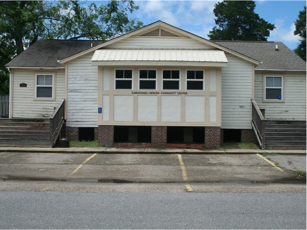 Carmicheal-Mercer Community Center. Available for group occasions and also includes the library