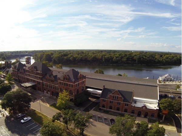 The Train Shed downtown and the beautiful Alabama River