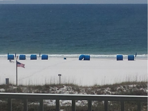 Ahh, you just missed the family of Dolphins.They love Orange Beach too!