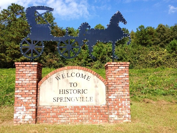 Historic Springville city marker