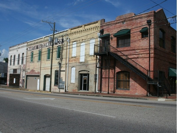 Old buildings in downtown Wetumpka are home to many businesses