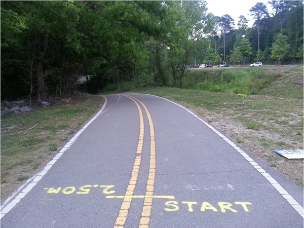 "Shades Creek Greenway ""On your mark, get set, go"""