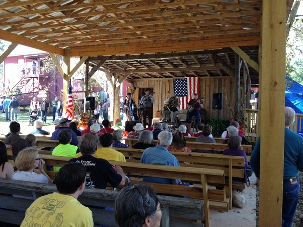 Bluegrass band performance at the annual Syrup Sop in Loachapoka