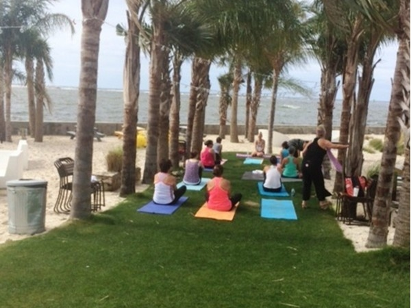Yoga at the gulf every Saturday at 10 a.m.!  Come join them!