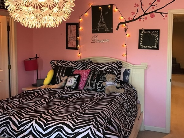 Parisian inspired teen room in Highland Lakes home