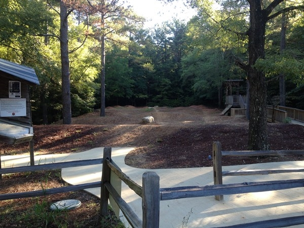 Small BMX track at Oak Mountain State Park