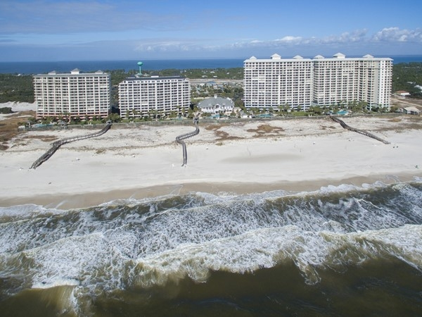 Aerial view from the back at The Beach Club