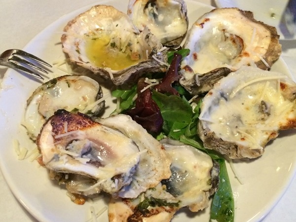 Baked Oysters at Villagio Grille in Orange Beach at the Wharf - guess we liked them!