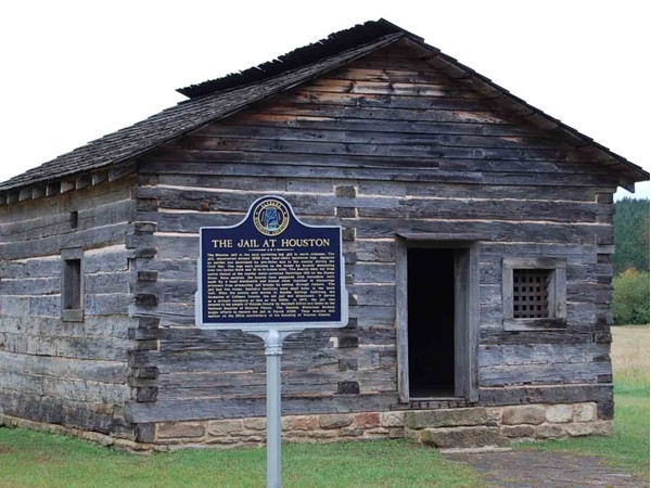 Houston Jail est. 1868. The second oldest surviving log jail in America
