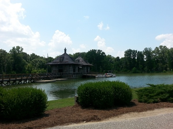 Boathouse on the stunning five mile lake at The Waters