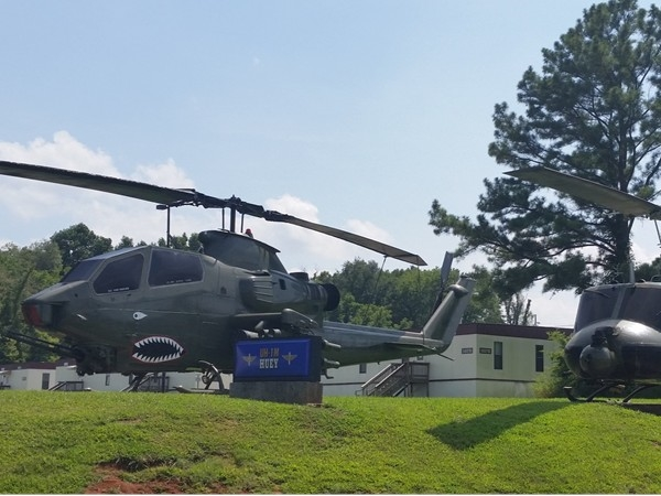 Cobra and Huey Helicopters at PEO Aviation on Redstone Arsenal