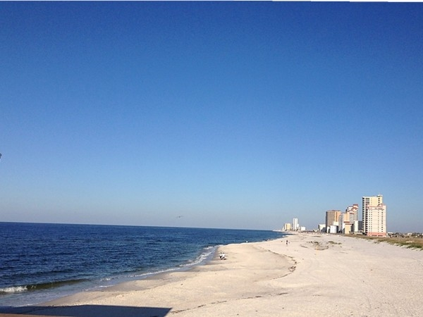 Beautiful view this morning from the Gulf State Park Pier!