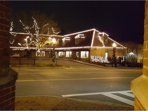 Crestline Village at Christmas