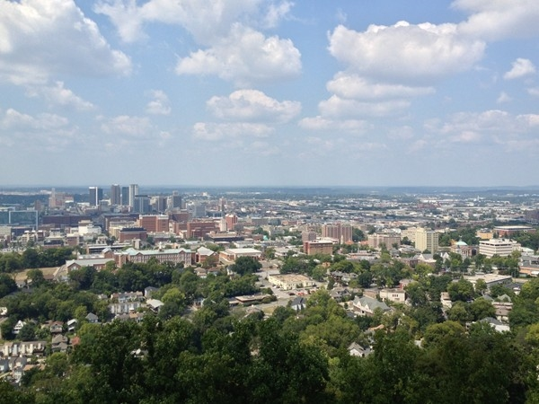 Gorgeous view from atop the iconic Vulcan in Birmingham.