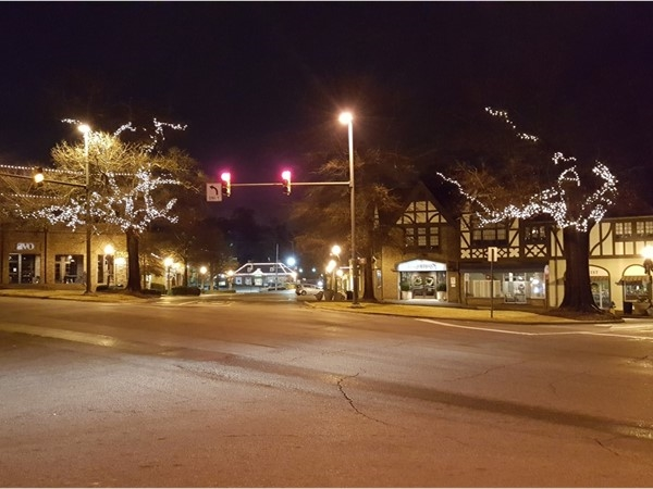 Decorated for Christmas brings out the beauty of the village