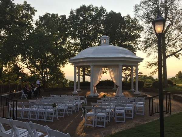 Sunset for a beautiful September wedding at Burritt on the Mountain in Huntsville