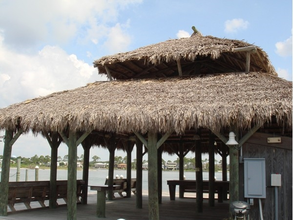 The tiki hut at The Pass is a great place for owners to entertain or to relax and watch the sunset!