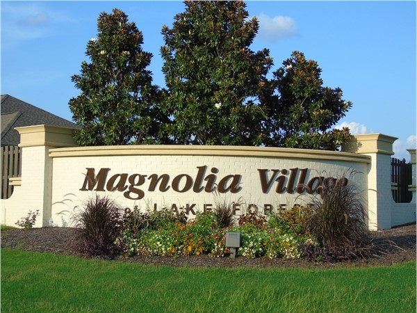 Entrance to Magnolia Village at Lake Forest