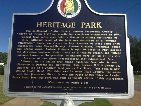 Heritage Park - history in Rogersville