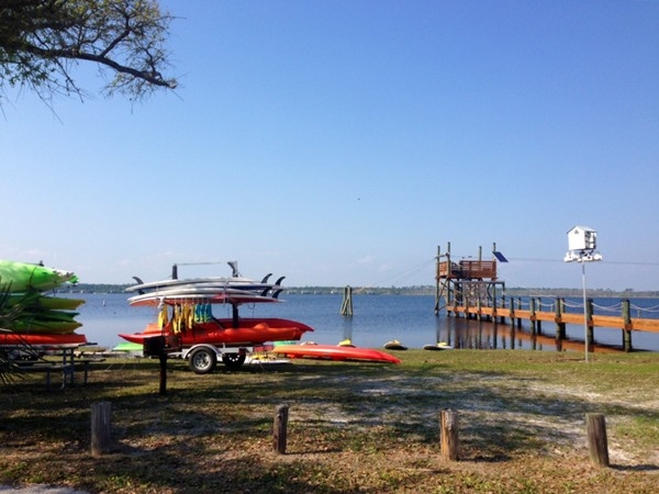 Paddle board and canoe rentals at The Gulf Adventure Center in Gulf Shores