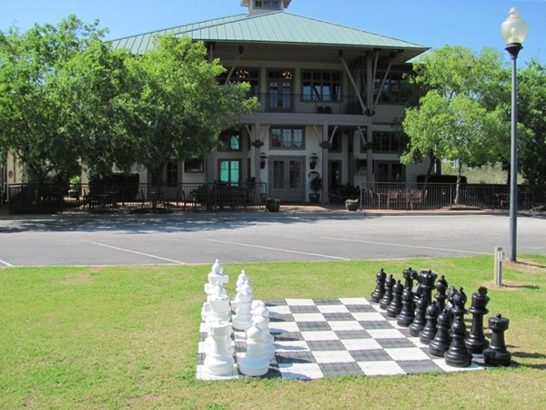 Great shopping and food at The Beach Club Marketplace andGrill.  Chess, anyone???
