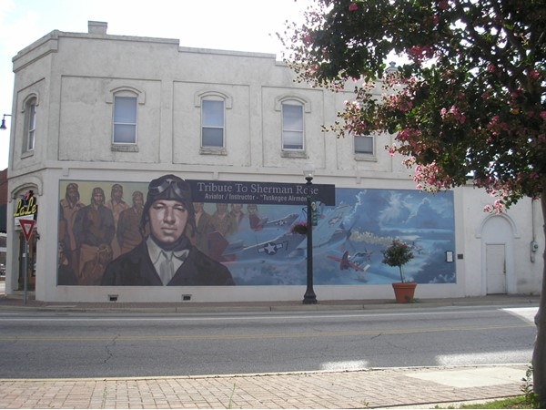 One of several murals throughout downtown Dothan