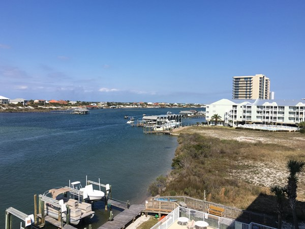 View of the river from Legacy Key balcony