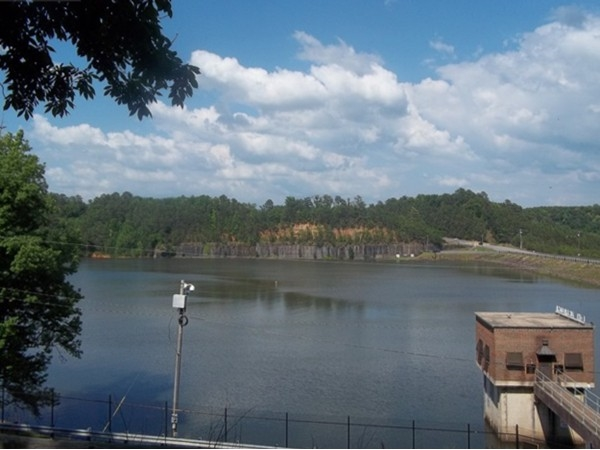 View of the Lake Tuscaloosa Dam from the Phelps Center