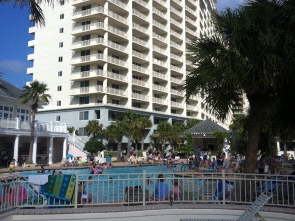 The Beach Club Condominium pool area in Gulf Shores