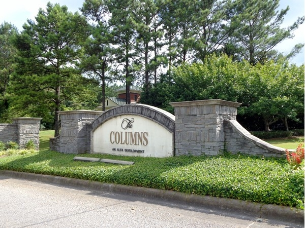 The Columns neighborhood entrance