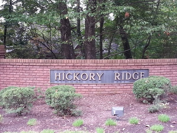 HIckory Ridge...less than a mile from Valleydale Road and 5 miles from Hwy 280