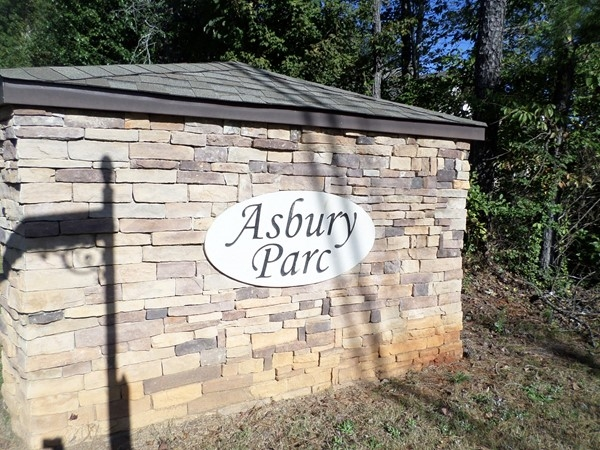 Entrance to Asbury Parc in Helena