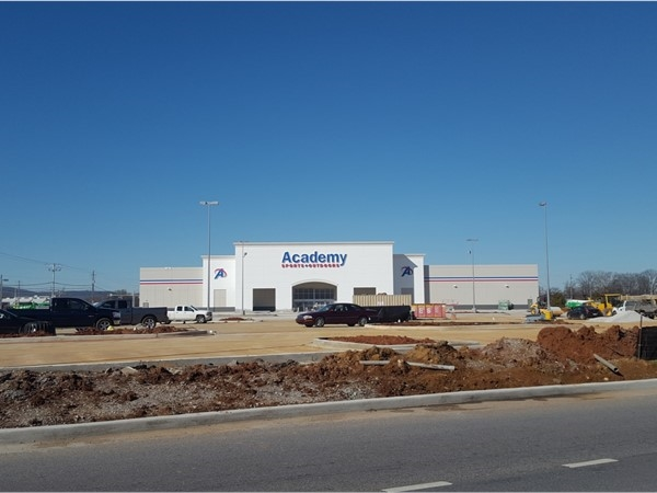 Progress on the future home of Academy Sports on the corner of Memorial Parkway and Drake Avenue