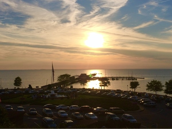 Picturesque sunset from the bluff in Fairhope