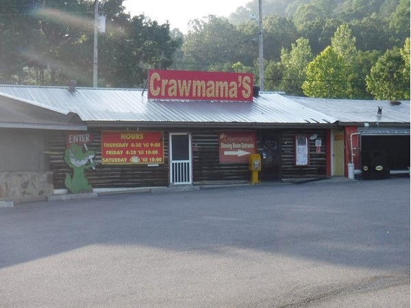 While you're in Guntersville, try Crawmama's for great steak & seafood in a laid back atmosphere