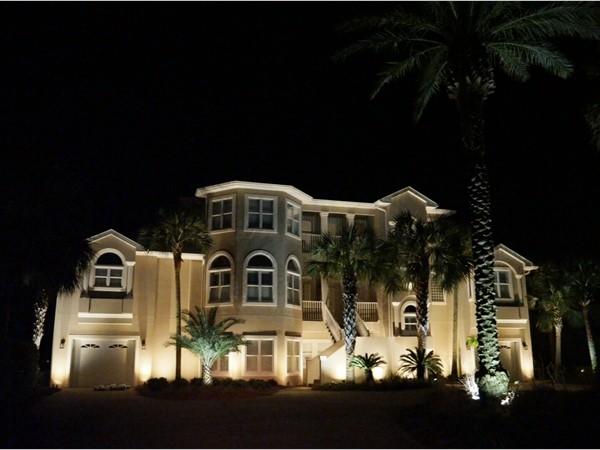 Beautiful new lighting on a beautiful Ono Island home